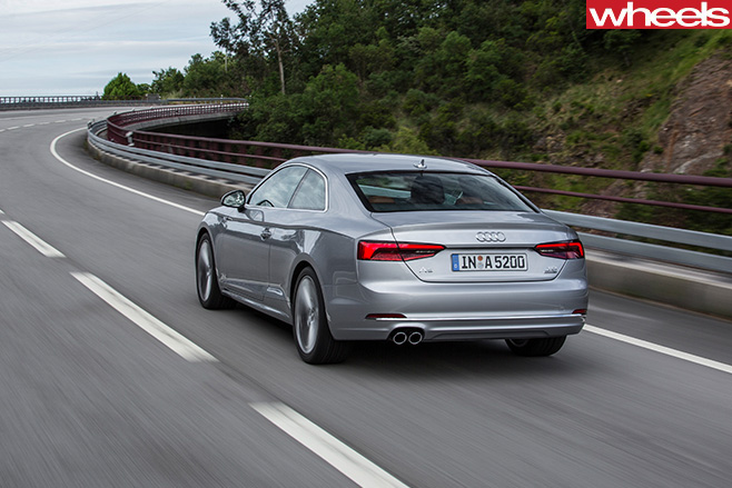 Audi -A5-rear -side -driving