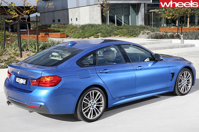 BMW-4-series -blue -top -rear