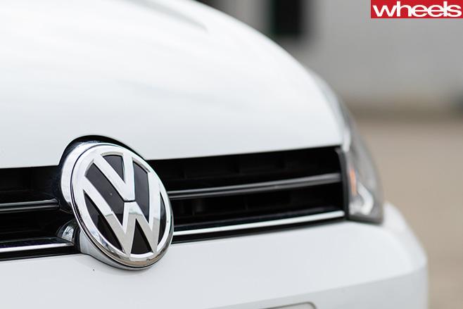 Volkswagen -badge -on -white -VW-Golf