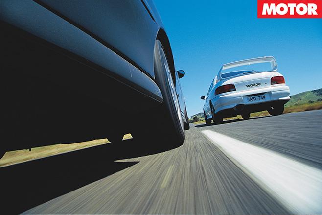 WRX-STi vs HSV GTS rear