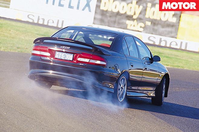 HSV-GTS-rear -wheel -spinning