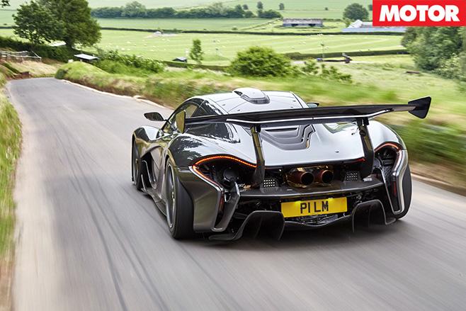 McLaren P1 GTR road car rear