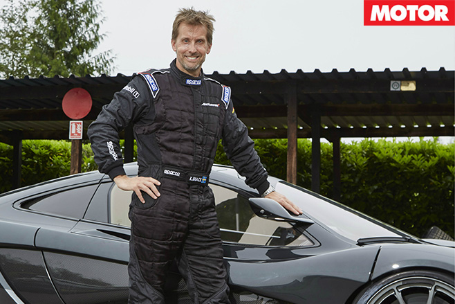 Kenny brack with the mclaren