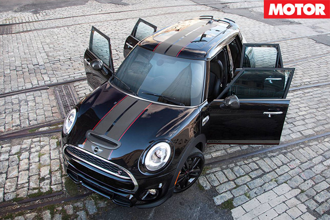 Mini Cooper S Carbon Edition doors open