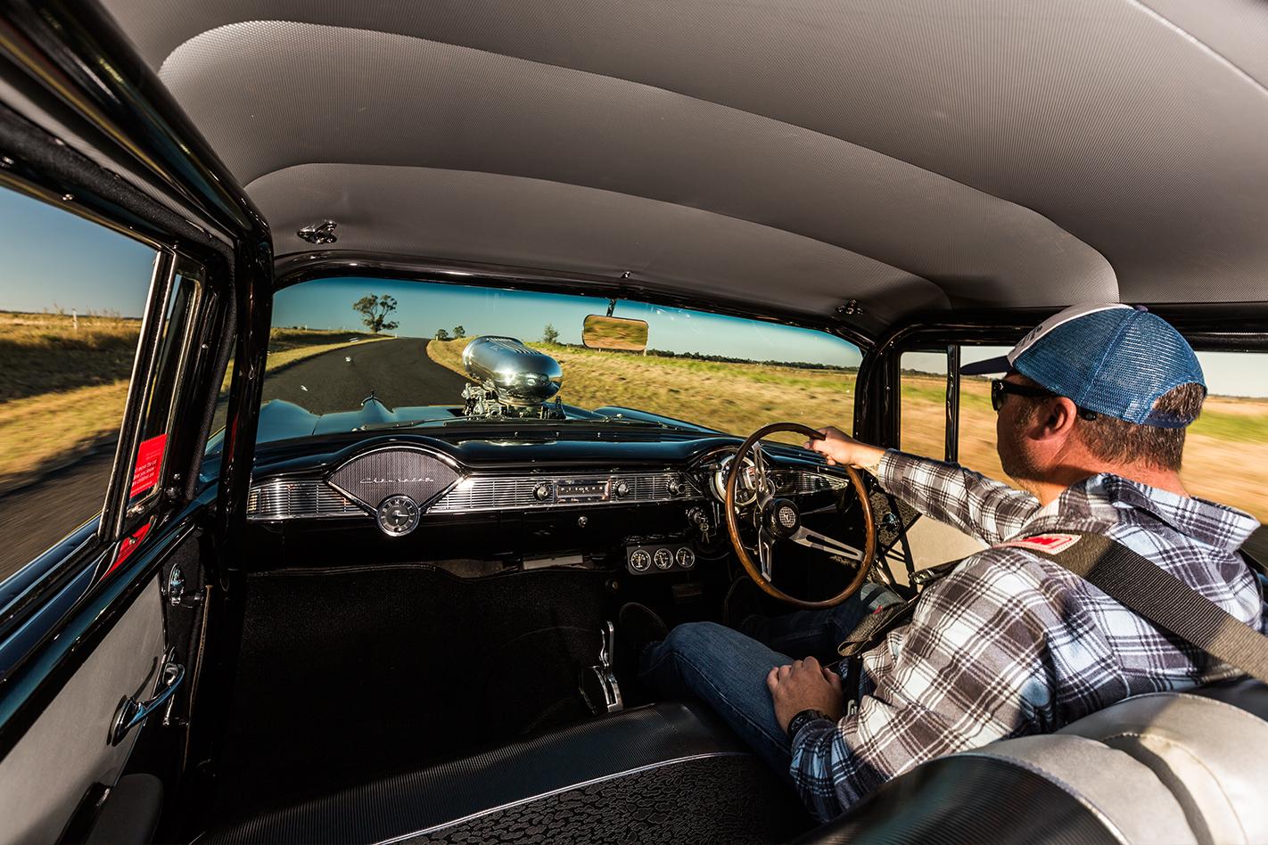 1957-Chevrolet -driving