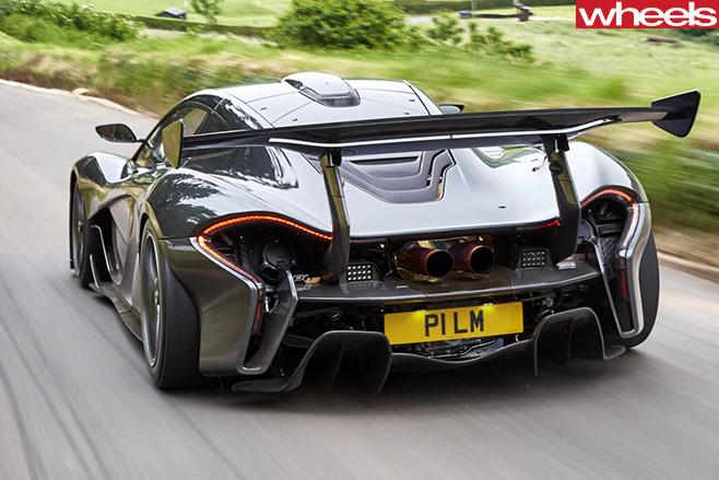 Mc Laren -P1-Lazante -driving -rear -side