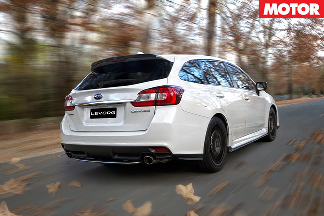 Subaru levorg driving rear