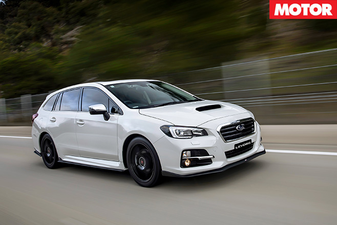 Subaru levorg driving front