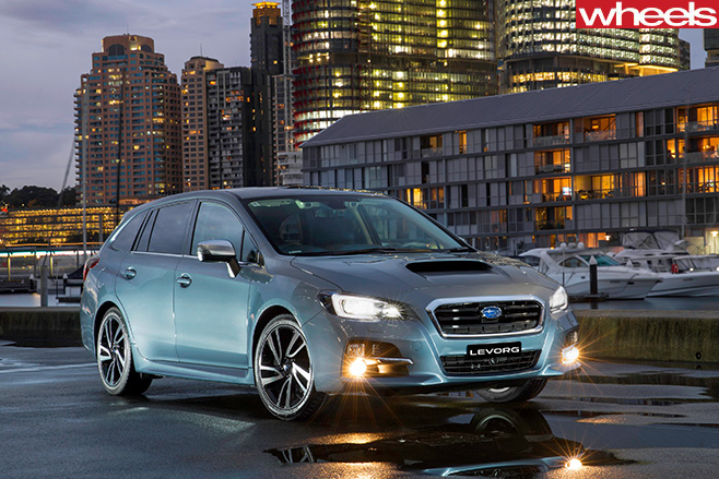 Subaru -Levorg -wagon -blue -front -side