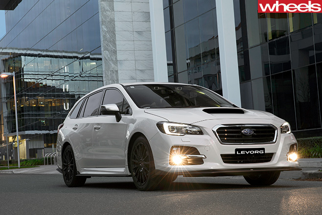 Subaru -Levorg -wagon -front -side -parked