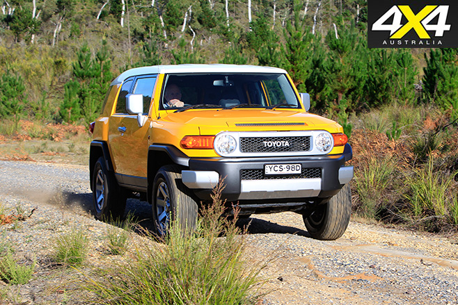 Toyota FJ Cruiser driving -front