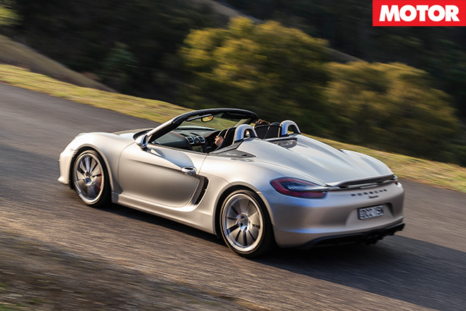 Porsche -Boxster -rear -driving
