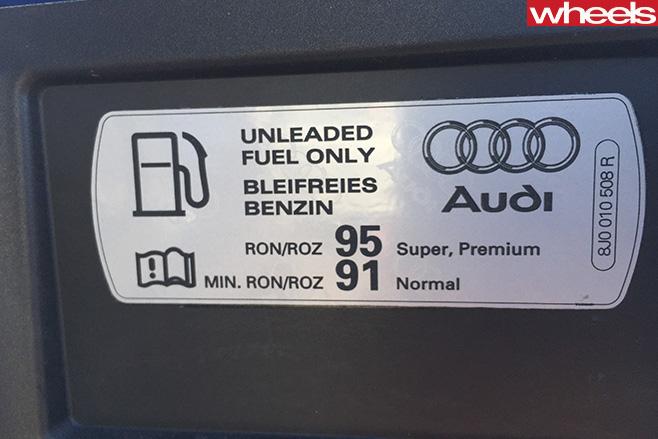 Audi -A3-Cabriolet -fuel -tank -sticker