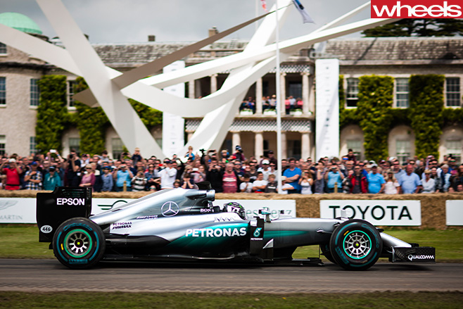 Mercedes -F1-car -Goodwood -Festival -of -Speed