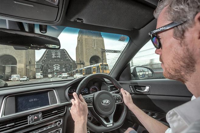 Kia -Optima -GT-interior -driving