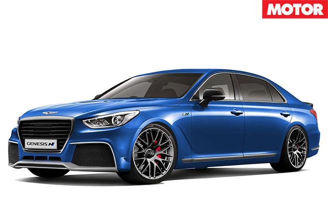 Hyundai Genesis N blue