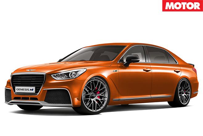 Hyundai Genesis N orange