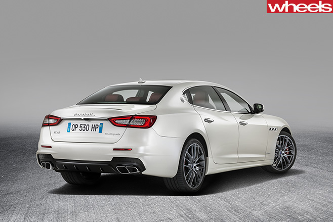 Maserati -Quattroporte -driving -corner -rear -side