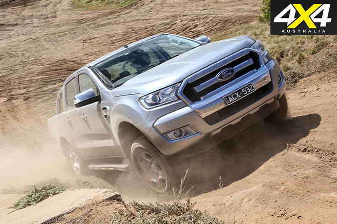 Ford ranger uphill driving