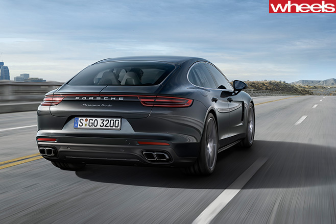 Porsche -Panamera -driving -rear -side