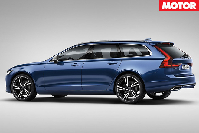Volvo V90 T8 Estate rear side
