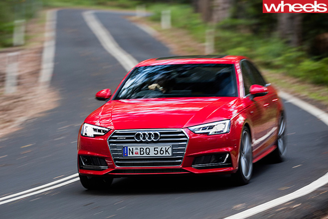 Audi -A4-driving -front