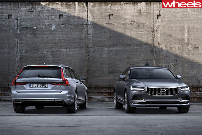 Volvo -V90-and -Volvo -S90-front -rear