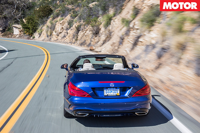Mercedes-Benz SL500 rear driving