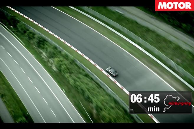 2017 Porsche Panamera Turbo Nurburgring overhead