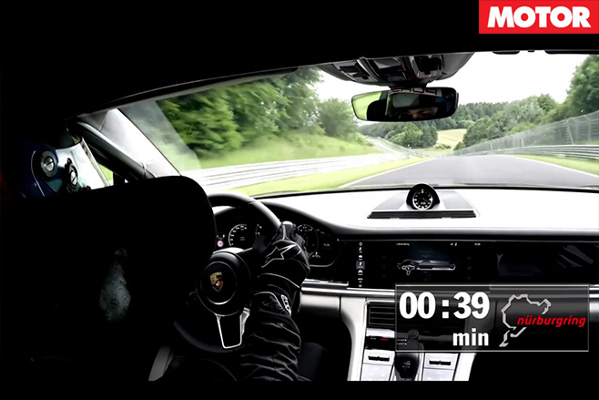 2017 Porsche Panamera Turbo Nurburgring onboard driving