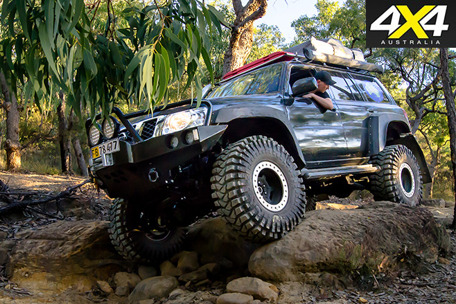 Custom Nissan Patrol GU side driving