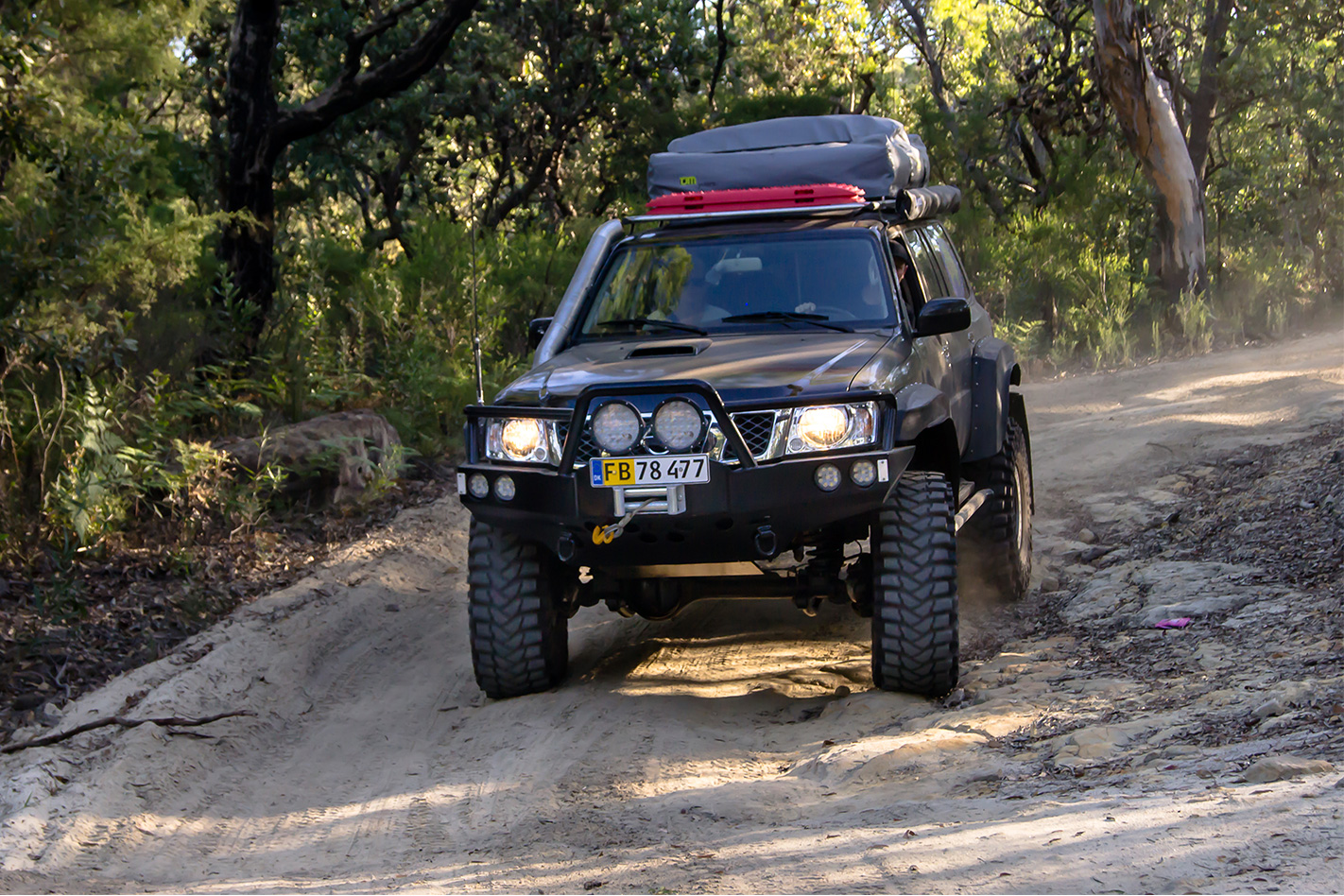 Custom nissan gu patrol trail driving