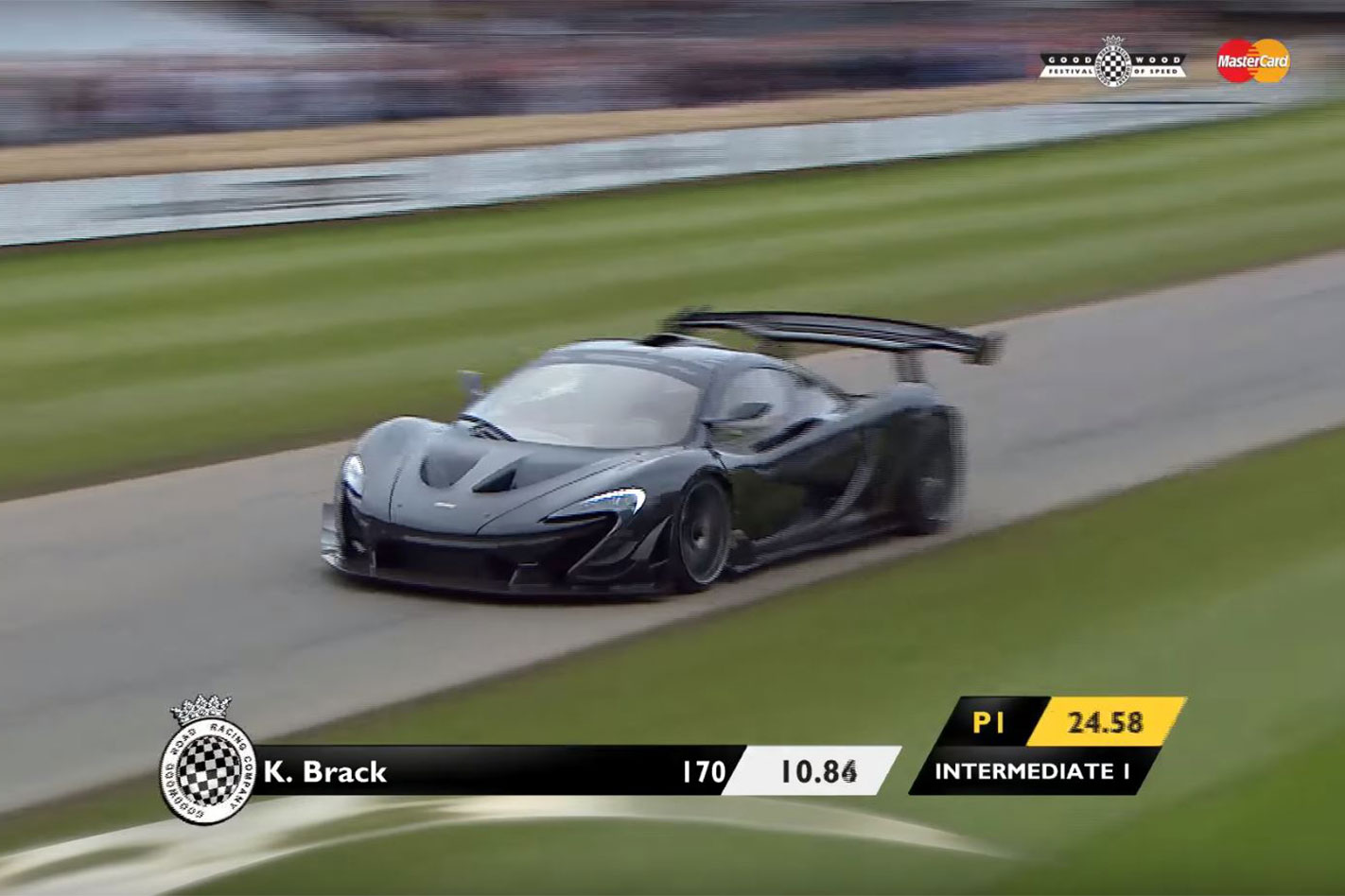 McLaren P1 LM Goodwood record main