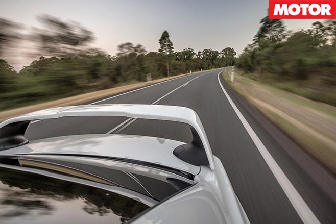 Mitsubishi Lancer Evolution road driving