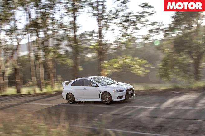 Mitsubishi Lancer Evolution driving side