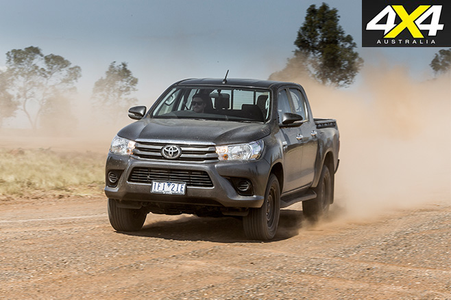 Toyota hilux driving