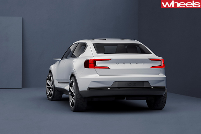 Volvo -concept -car -model -rear