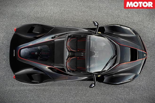 Ferrari LaFerrari drop top top view