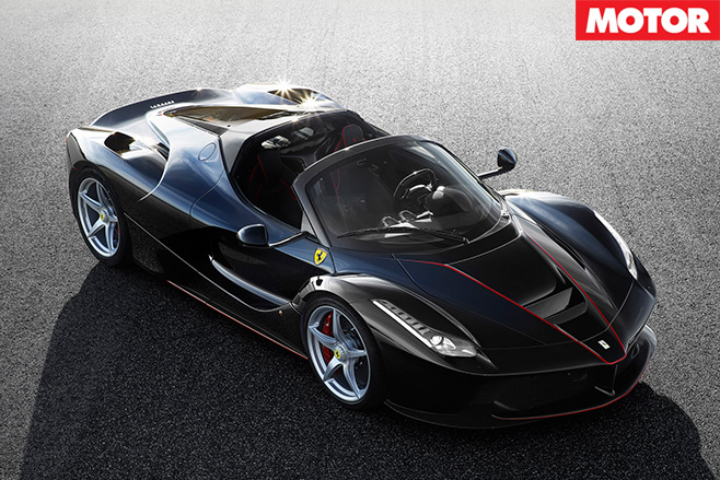Ferrari LaFerrari drop top front view