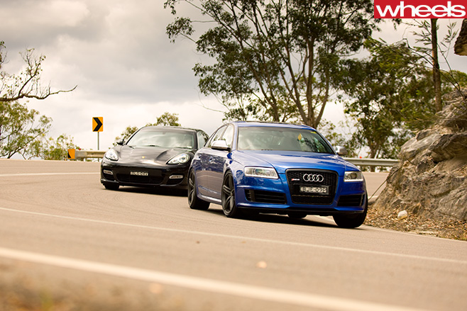 Audi -RS6-and -Porsche -Panamera