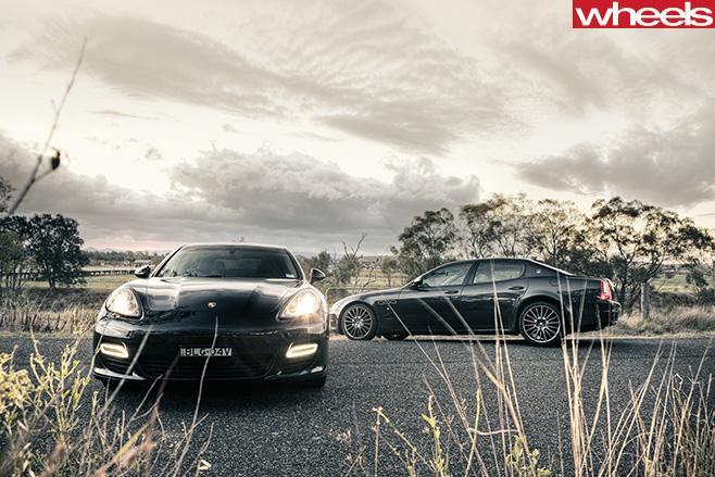 Porsche -Panamera -and -Maserati -Quattroporte