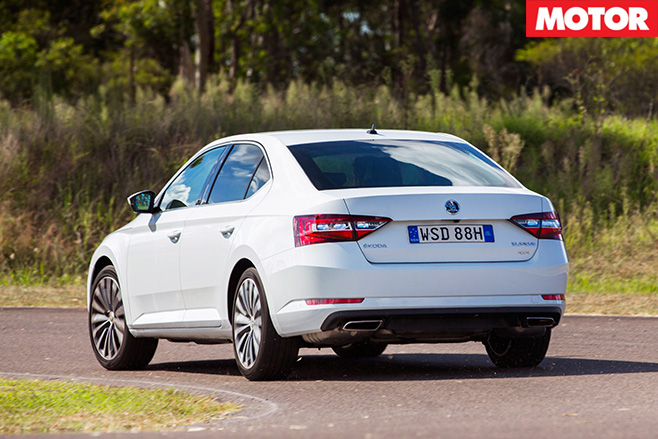 Skoda Superb 206TSI rear