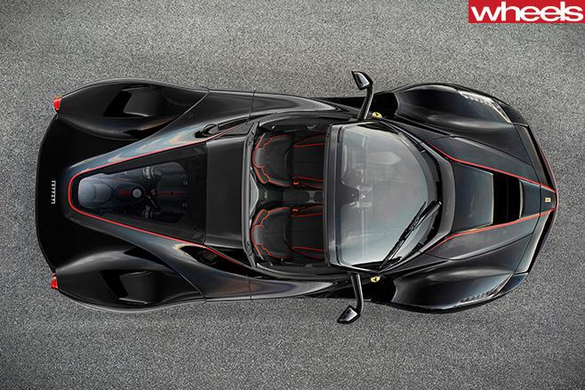 Ferrari -La Ferrari -convetible -top -view