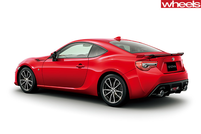 Red -Toyota -86-rear -side-