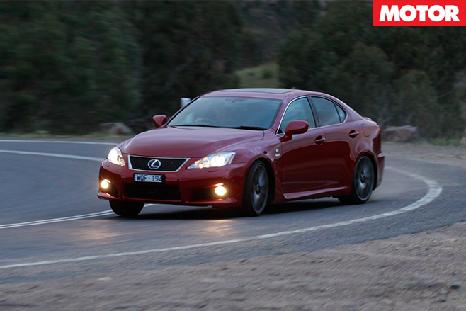 Lexus IS F driving front side
