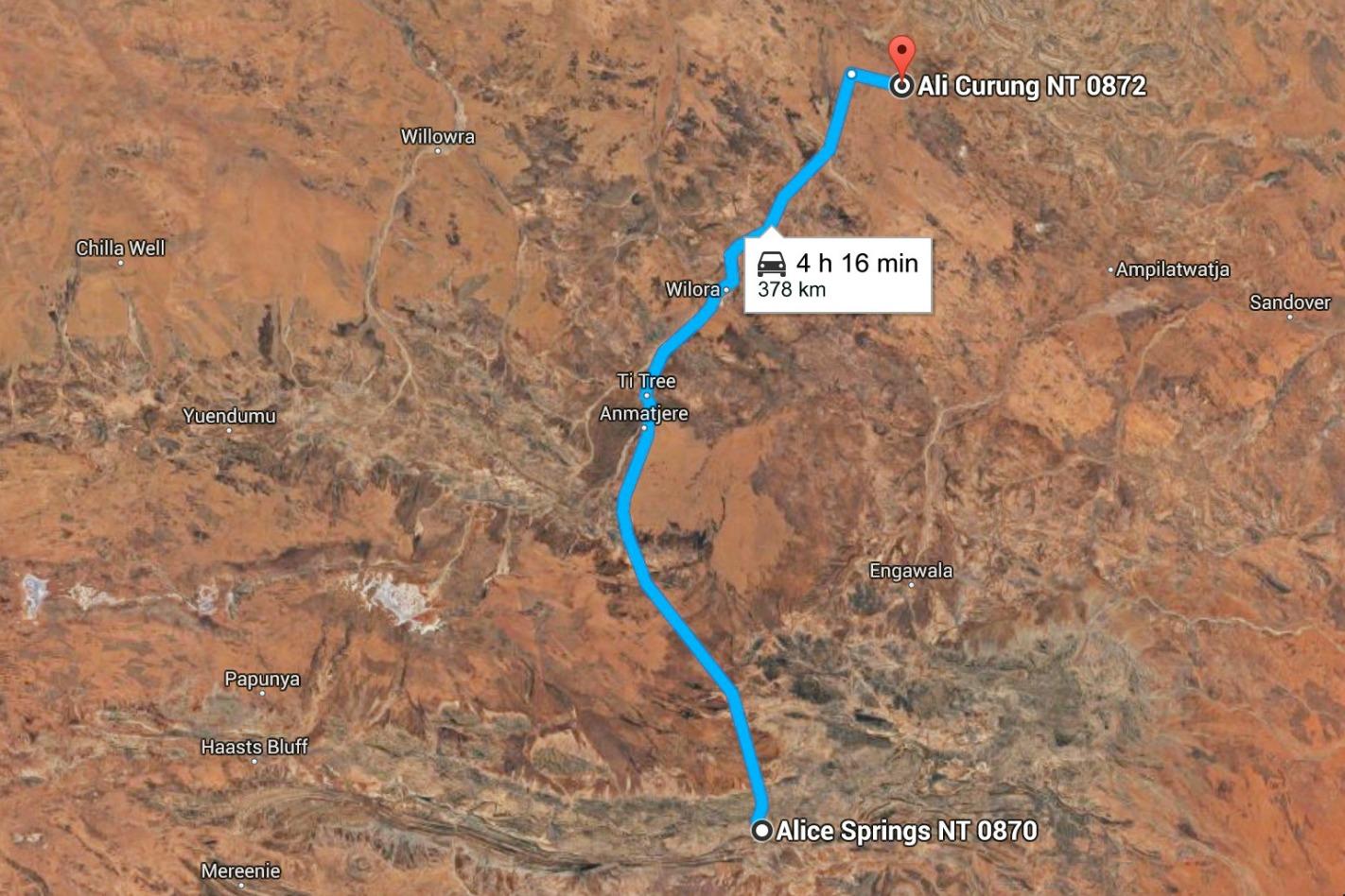 Northern Territory Derestricted Speed Zone