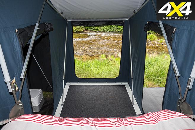 Tent view of the floor