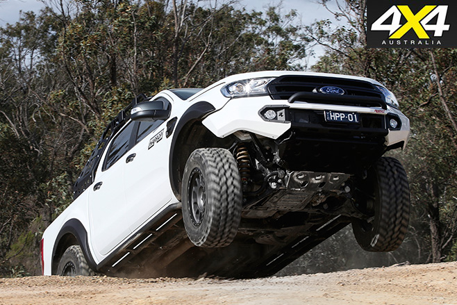 Custom ford ranger hill climbing