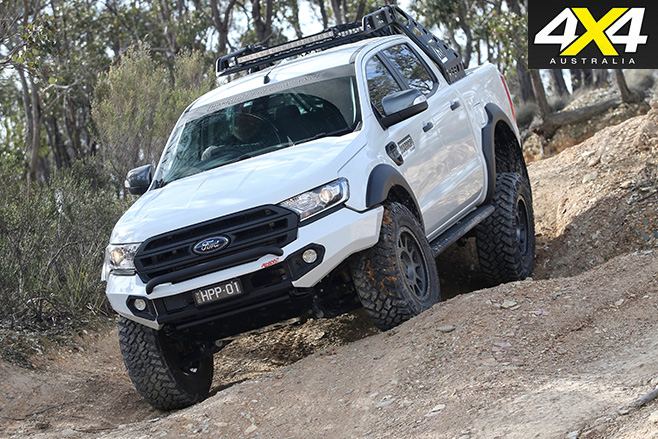 Custom ford ranger downhill driving