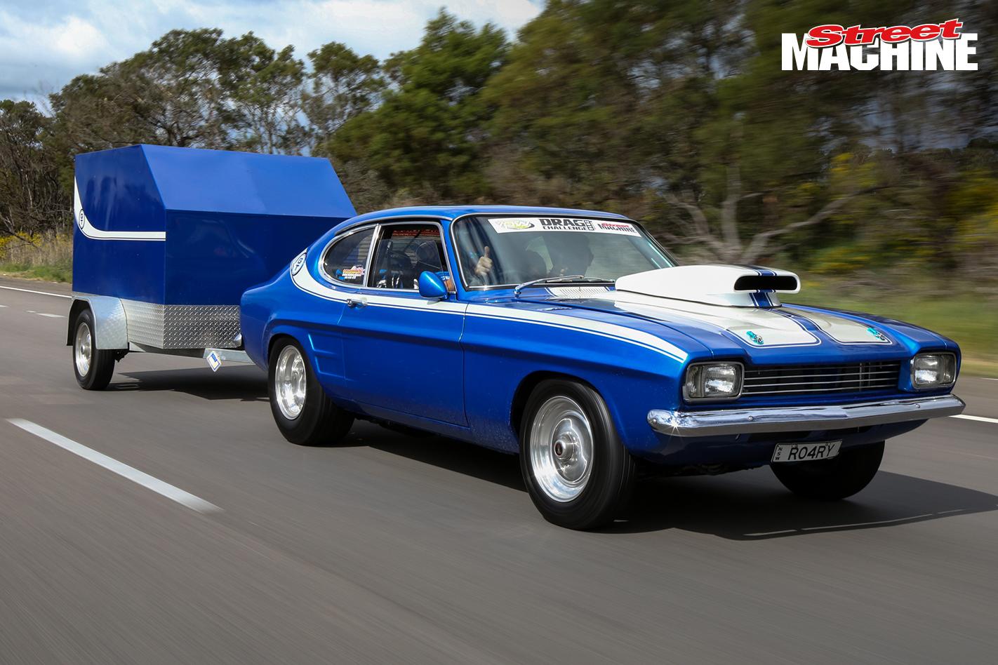 Ford Capri V8 Drag Challenge